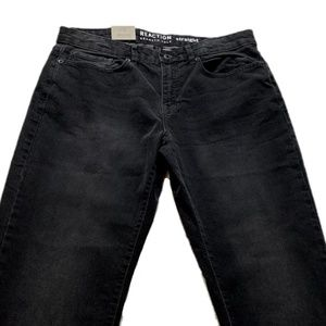 Kenneth Cole Reaction Jeans - Kenneth Cole Reaction Straight Leg Black Jeans